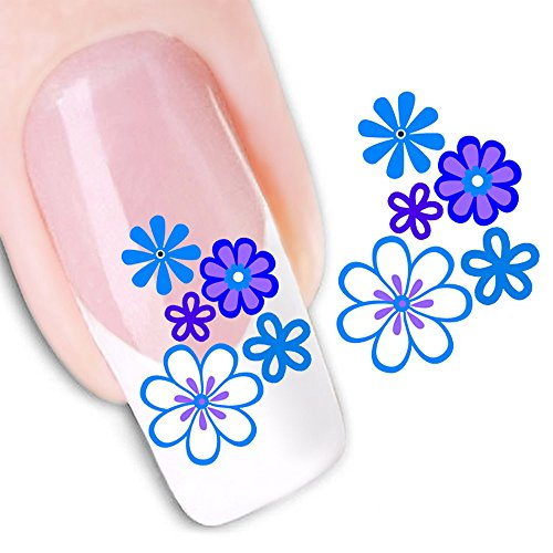 Mode Autocollant Portable Fleur Motif Nail Stickers Nail Art Outil,D