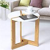 Moderno Tavolino Bianco, Tavolino Rotondo da Caffè Elegante Chic in Legno, per Soggiorno Balcone Camera da Letto Hotel, 40 x 41 cm