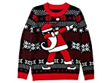 Tstars Dabbing Santa Christmas Sweater Gift for Boys Girls Dab Santa Xmas Kids Sweater X-Large Multicolor