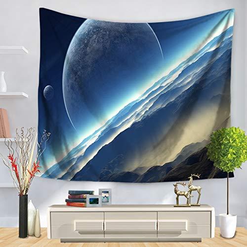 KHKJ Mandala Starry Sky Tapiz para Colgar en la Pared Macrame Bohemio Arte de la Pared Manta Decoración del hogar Sábanas de Dormitorio Multicolor Estera de Yoga A2 200x150cm
