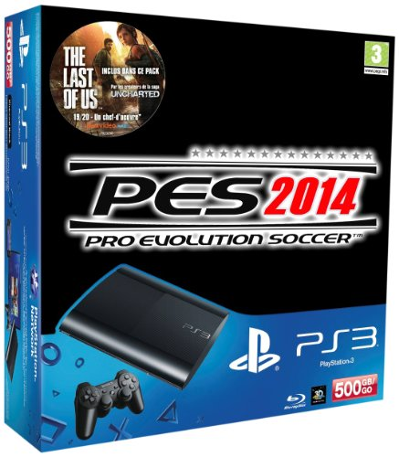 Console PS3 Ultra Slim 500 Go Noire + PES 14 + The...