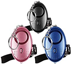 Emergency Persoonlijk Alarm [3 Pack] Qoosea Scream Safesound Alarm 140dB LED Zaklamp voor Kinderen/Vrouwen/Ouderen/Student...