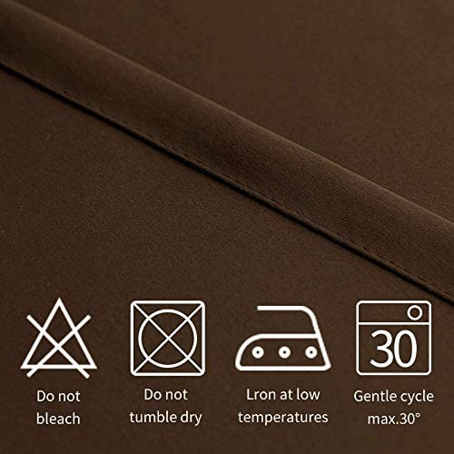 Pergola and Cabana Grommet Thermal Blackout Curtains for Bedroom//Living Room Sun Light Blocking Waterproof FLOWEROOM Indoor//Outdoor Curtains for Patio Beige 52 x 84 inch Set of 2 Panels