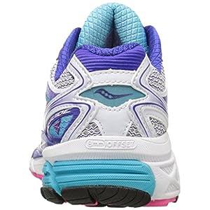 Saucony Women's Guide 8 Running Shoe,White/Twilight/Pink,8 N US
