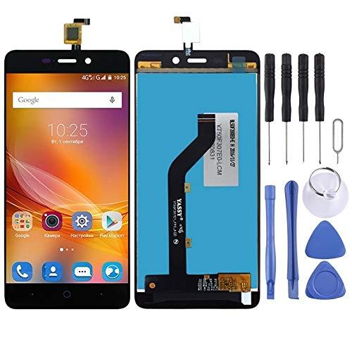 Zhangl Reparación de Repuesto Pantalla LCD y digitalizador Asamblea Completa for ZTE Blade X3 T620 A452 Reparación de Repuesto (Color : Black)