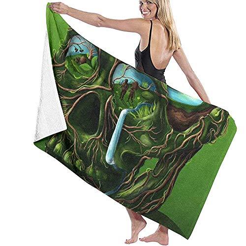 Badhanddoek Wrap Brain Hole Brede Open Prints Womens Spa Douche en Wrap Handdoeken Zwembad- Wit