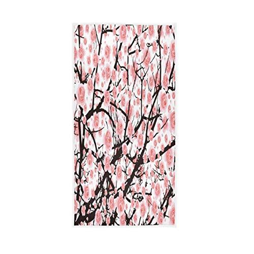 ALAZA Toallas de algodón para la cara del baño, decoración de baño, 76 x 38 cm