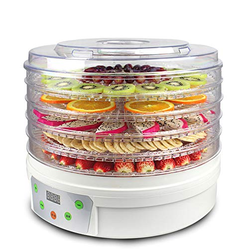 For Sale! CJSWT Food Dehydrator, 5-Tray Food Dehydrator Machine with Extensible Capacity for Jerky, ...