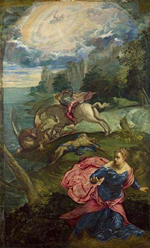 Das Museum Outlet–Jacopo Tintoretto–Saint George und der Drache–Poster Print Online kaufen (152,4x 203,2cm)
