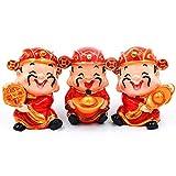erddcbb Estatua de Dios de la Riqueza, Adorno de Feng Shui, esculturas de Yuan Bao Tsai Shen Yeh, Linda Figura para atraer Fortuna, Dinero, Suerte y éxito, Juego