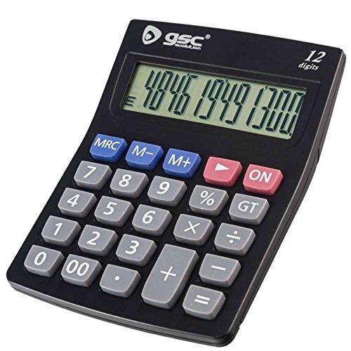 rekenmachine, 12-cijferig lcd-display, grote rekenmachine, standaard commerciële functie voor kantoor / thuis / school