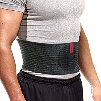ORTONYX Premium Umbilical Hernia Belt for Men and Women / 6.25  Abdominal Binder With Hernia Support Pad - Navel Ventral Epigastric Incisional and Belly Button Hernias - Black OX5241-3XL Plus Size