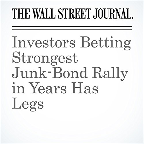 Investors Betting Strongest Junk-Bond Rally in Years Has Legs copertina