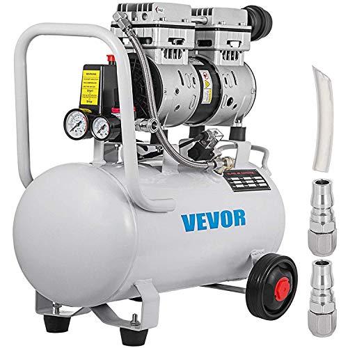 GIOEVO Silenzioso senza olio del Compressore D\'aria 30 Litri 750W Compressore d'aria Silenziato ≤48 dB Compressore d\'aria
