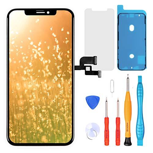 LL TRADER Pantalla para iPhone XS OLED 5,8' Reemplazo de Retina Touch Display Digitizer y Herramientas de Reparación (Negro)