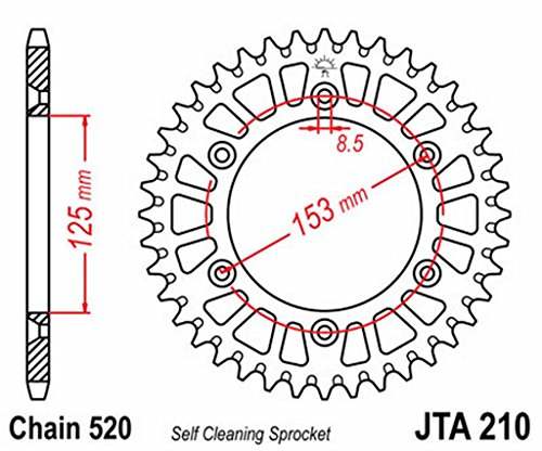 Anneau transmission arrière aluminium JT 210