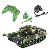 M & M MM Deluxe RC Combats Chars de Combat télécommande Infrarouge Charge de la lumière de Son Vert