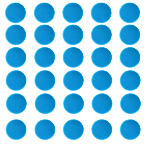 Carpet Spot Sit Markers - 4 Circles Floor Markers for Students Group Activity Sports Training Landmark - 30 Pcs Azure Hook and Loop Classroom Sitting Dots