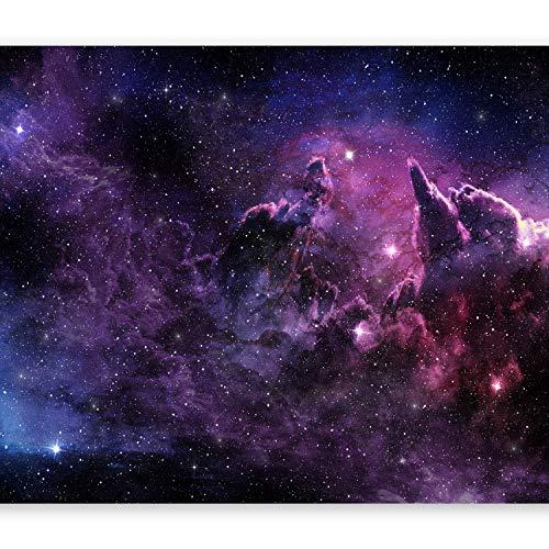 murando Fototapete Galaxy 400x280 cm Vlies Tapeten Wandtapete XXL Moderne Wanddeko Design Wand Dekoration Wohnzimmer Schlafzimmer Büro Flur Kosmos Himmel Stern Wolke violett a-C-0022-a-a