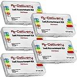 AZDelivery 5 x Kit Diodos LED Emisores de Luz, 350 piezas, 3 mm & 5mm, 5 Colores, Set de Diodos LED Emisores Redondos, UV RGB CC/CA con E-Book incluido!