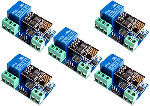 TECNOIOT 5pcs ESP8266 5V WiFi Relay Module Things Smart Home Remote Control Switch Phone App