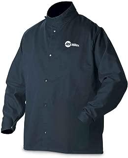 Welding Jacket, Navy, Cotton/Nylon, L