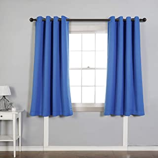 MYSKY HOME Solid Grommet top Thermal Insulated Window Blackout Curtains for Children's Room, 52 x 63 inch, Royal Blue, 1 Panel