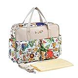 HT Fashion Waterproof Baby Mammy Diaper Bag Large Capacity Shoulder Bag Handbag—Colorful Animal()