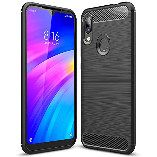Soft Cover for Xiaomi Redmi y3 | Carbon Brushed Black