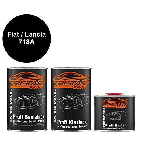 TRISTARcolor Autolack Set Dose spritzfertig für FIAT/Lancia 718A Nuovo Nero Metallic Basislack + 2K Klarlack 2,5L
