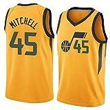 Jazz Mitchell # 45 Maillot de basket-ball, T-shirt d'entraînement classique, vêtement de fête, vêtement de sport, 4 - XL