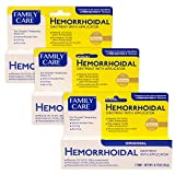 Family Care Hemorrhoidal Ointment with Applicator-Pack of 3 Boxes .67 Oz Each