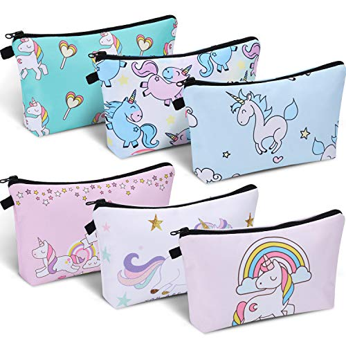 6 Pieces Makeup Bag Toiletry Pouch Waterproof Cosmetic Bag with Mandala Flowers Patterns, 6