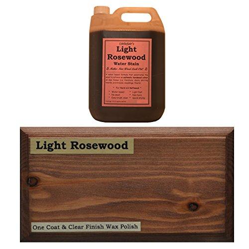 Littlefairs umweltfreundliche wasserbasierte Holzlasur und Farbe - Traditionelles Sortiment (5ltr, helles Rosenholz)