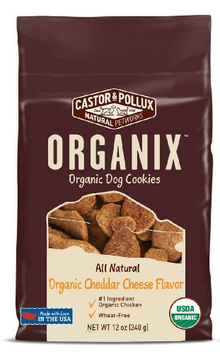 Castor & Pollux Organix Dog Cookies, Cheese Flavor, 12-Ounce Bags (Pack Of 4)
