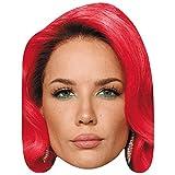 Halsey (Red Hair) Celebrity Mask, Flat Card Face, Fancy Dress Mask