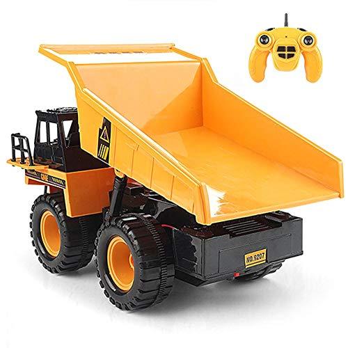 Rc Truck Kinder 2.4G Ferngesteuertes Muldenkipper-Modell Ferngesteuerter Lkw 1:22, Mit Musik LED Light Construction Fahrzeug Spielzeug,Weihnachten Geschenk Für Kinder -26X15.5X15cm
