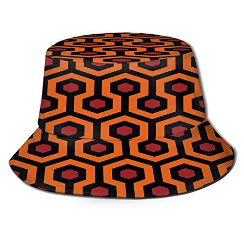 fudin Sombrero de Pescador Unisex El patrón de Alfombra Brillante Plegable De Sol/UV Gorra Protección para Playa Viaje Senderismo Camping