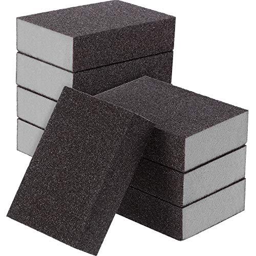 Sanding Sponge, Sanding Blocks, Washable and Reusable Sand Sponge Kit, 8 Pieces (Medium Grade)
