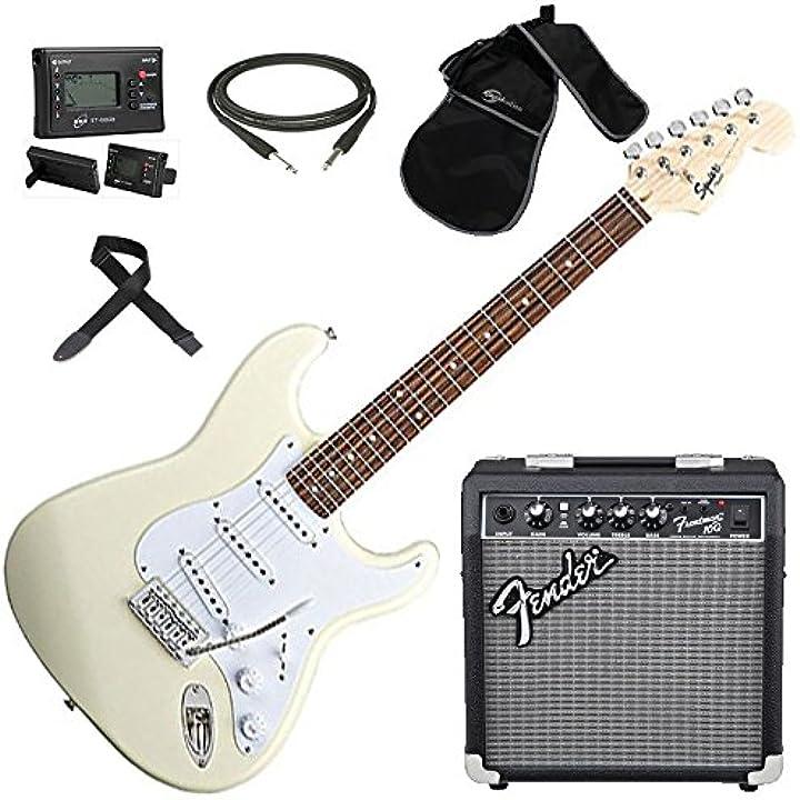 Chitarra elettrica + amplificatore + borsa + accordatore + tracolla + plettri fender squier stratocaster B01GXAH008