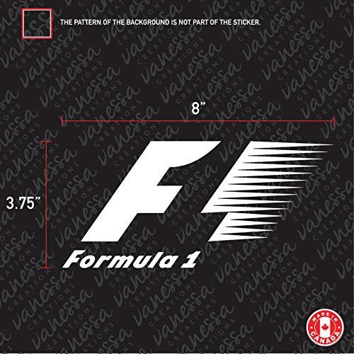 SUPERSTICKI Formula 1 Formel 1 Auto Aufkleber Tuning Fun Lustig ca 20cm Autoaufkleber Hochleistungsfolie für alle glatten Flächen UV und Waschanlagenfest Tuning Profi Qualität