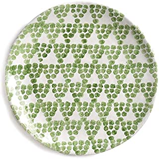 Tuscan Dinnerware – Olive Green Grapes Ceramic Plate from the Toscana Collection – Rustic Tuscan Kitchen Décor, Country Rustic Dinnerware Hand Painted & Handmade in Italy, Ceramic Plate