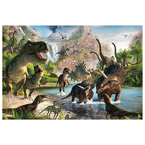500/1000/1500/2000 Pieces Jigsaw Puzzles, HD Wooden Puzzles, Childrens Teens Adult Intellective Family Game, Jurassic Park Dinosaur Age (Size : 2000pieces)