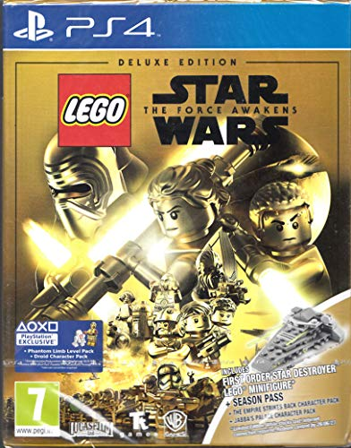 Lego Star Wars The Force Awakens Deluxe Edition PS4 EU Version multilingual mit Minifigur in gold