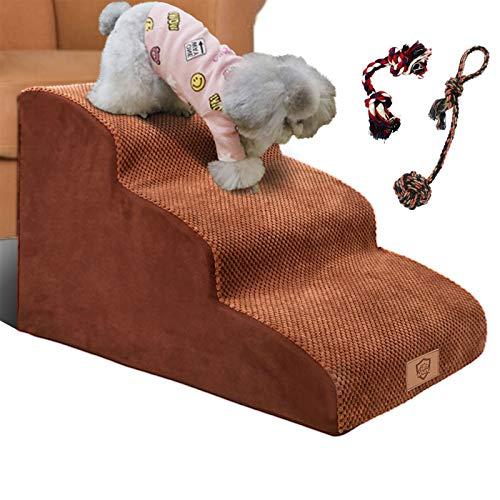 Masthome Escaleras de Espuma para Perros de 3 Niveles,Escalones para Mascotas extra Anchas y Profundas,Rampa para Mascotas de Espuma de Alta densidad, Ideal para Perros Mayores,Gatos,Mascotas Pequeñas