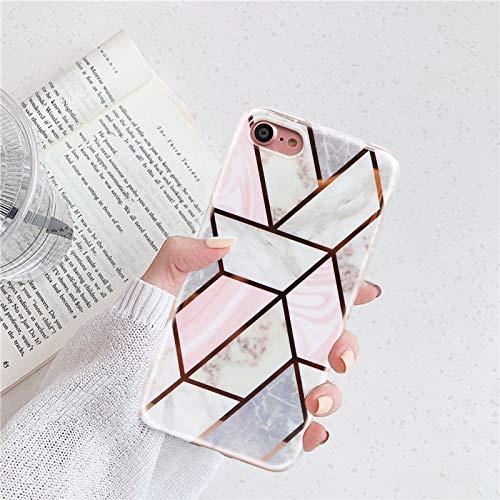 Nupcknn Funda Marmol para iPhone 6/iPhone 6S, Carcasa TPU Suave Silicona Ultra Delgado Case Cover Protectora para iPhone 6/iPhone 6S (Marmol 3)