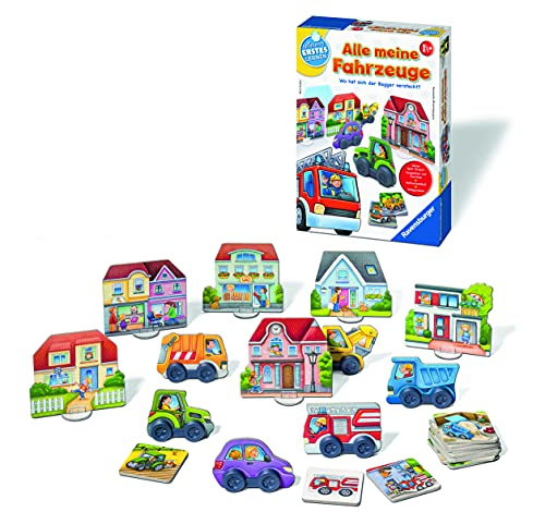 Preisvergleich Produktbild Ravensburger 24722 - Alle meine Fahrzeuge - Lernspiel für die ganz Kleinen - Zuordnungsspiel für Kinder ab 2 Jahren