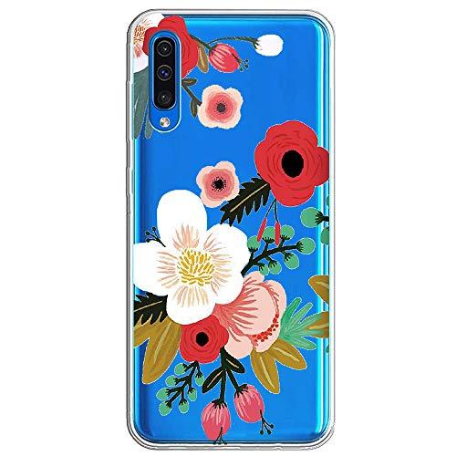 Kompatibel mit Samsung Galaxy A50 Hülle,Galaxy A50 Handyhülle Schutzhülle,Transparent Silikon Painted Muster Weich Silikon Ultra Dünn, Kratzfest & Wasserdicht SchutzHülle für Galaxy A50 (12)