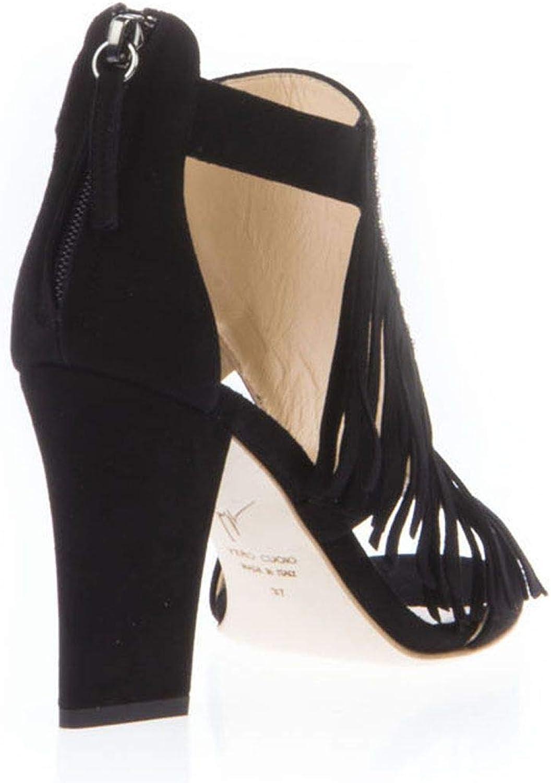 GIUSEPPE ZANOTTI Design Woherrar E60094001 svart mocka Ankle Ankle Ankle stövlar  bästsäljare