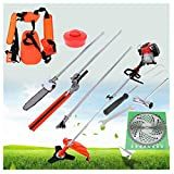 Powerful 7 IN 1 Petrol Strimmer Garden Grass Brush cutter Hedge Trimmer Chainsaw